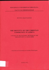 Book Cover: The Identity of the Christian Community in Africa - Doctoral Thesis